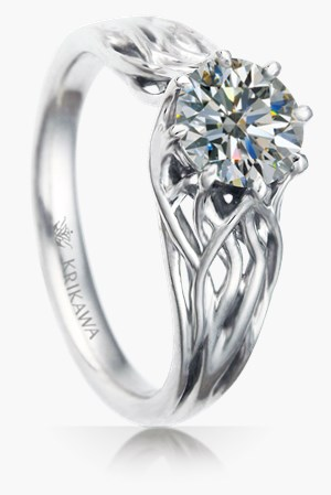 designs fantasy open rings white mark engagement diamond ring gold leaf michael nature inspired