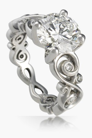 Infinity Symbol Engagement Ring