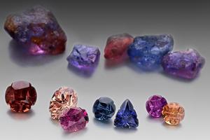 Raw and Cut Gemstones