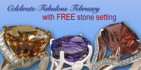 Fabulous February free stone setting promo