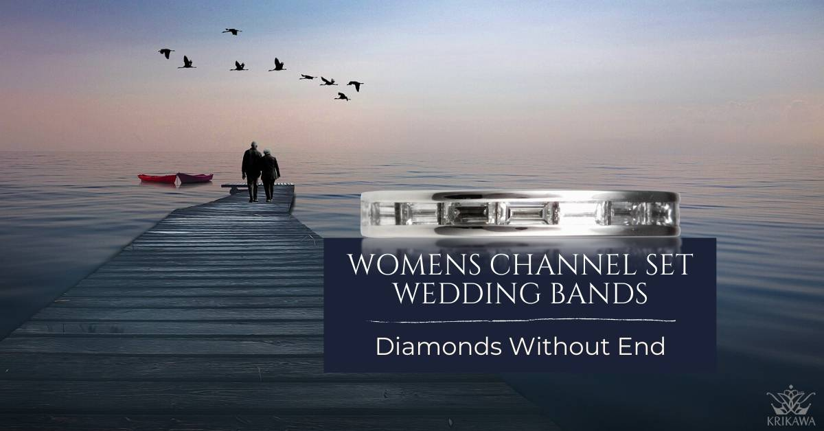 Women's Channel Set Wedding Bands