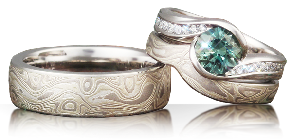 engagement sterling tone silver rings and brass wedding amazon ring dp steel damascus com mokume gane band