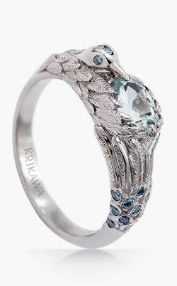 nature engagement rings bird