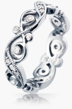 infinity symbol wedding bands