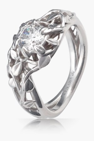 in diamond orospot product com carved hand ring engagement rings nature gold leaves subtle