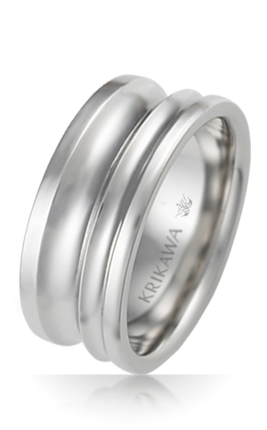 Machine Lathed Pulley Wedding Band