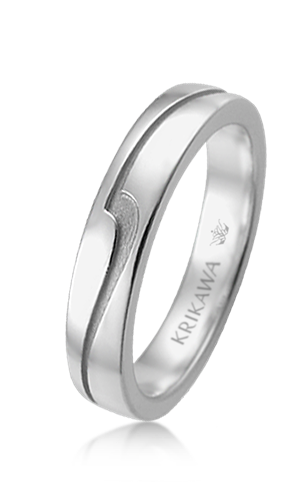 Wave Eternity Wedding Band