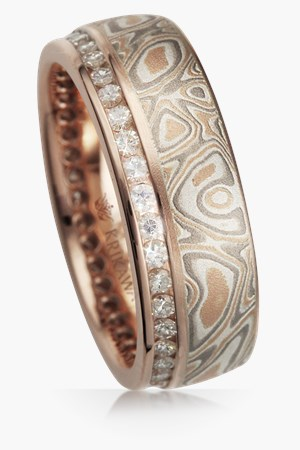mokume wedding bands - Unique Wedding Ring