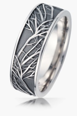 nature wedding bands