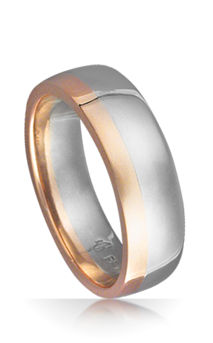 Side Stripe Wedding Band