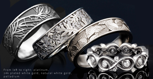 White Metal Wedding Bands