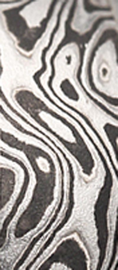 black and white mokume strip