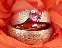 Mokume Gane Engagement Ring