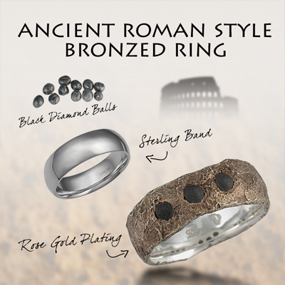 May Ancient Roman Style Bronzed Ring