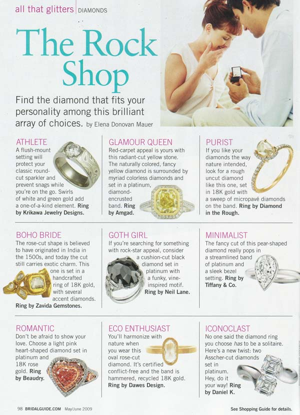 Bridal Guide May 2009 The Rock Shop Article