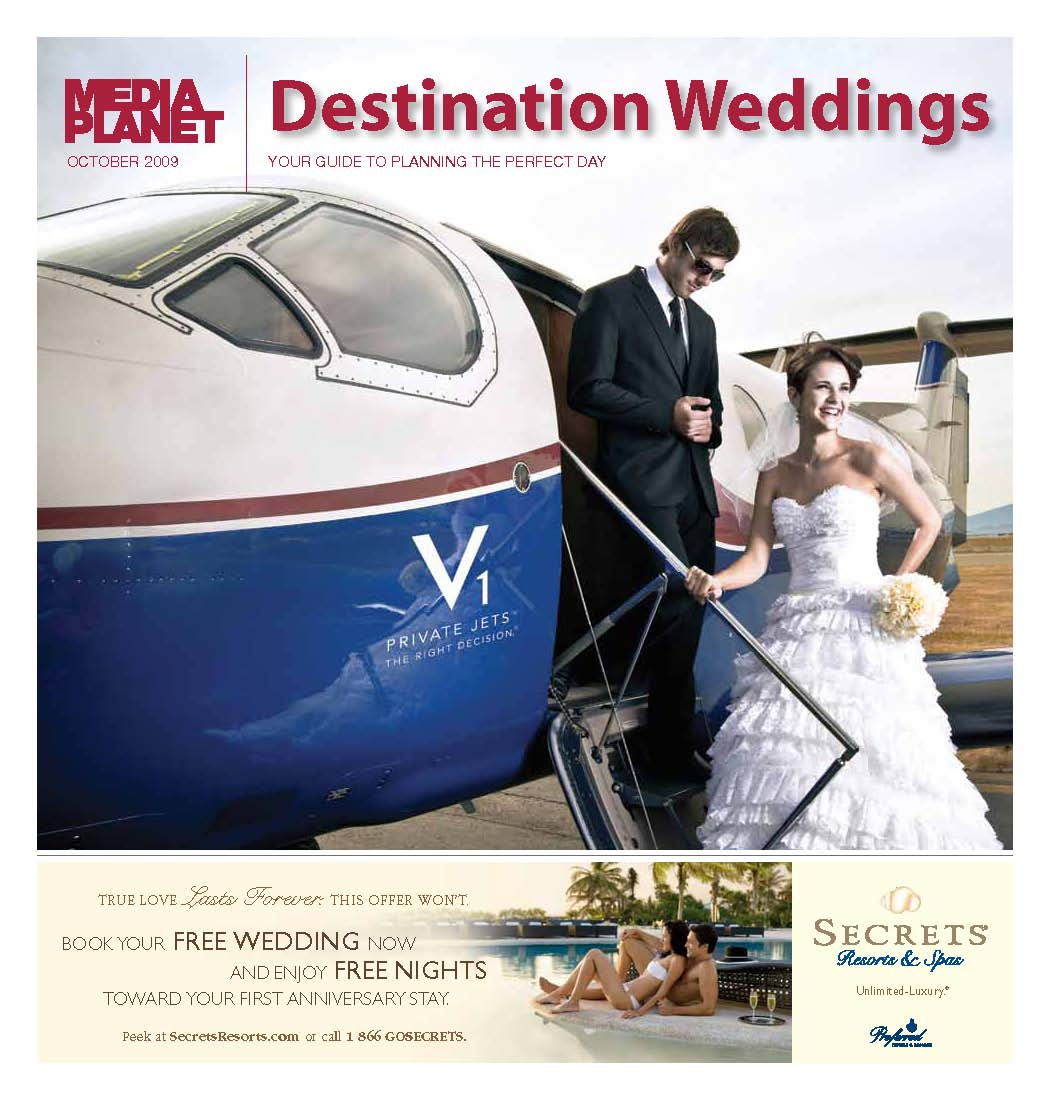 Destination Weddings Cover October 2009