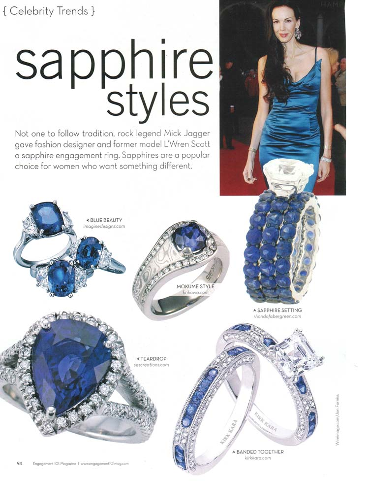 Engagement 101 Magazine 2009 Sapphire Styles Article