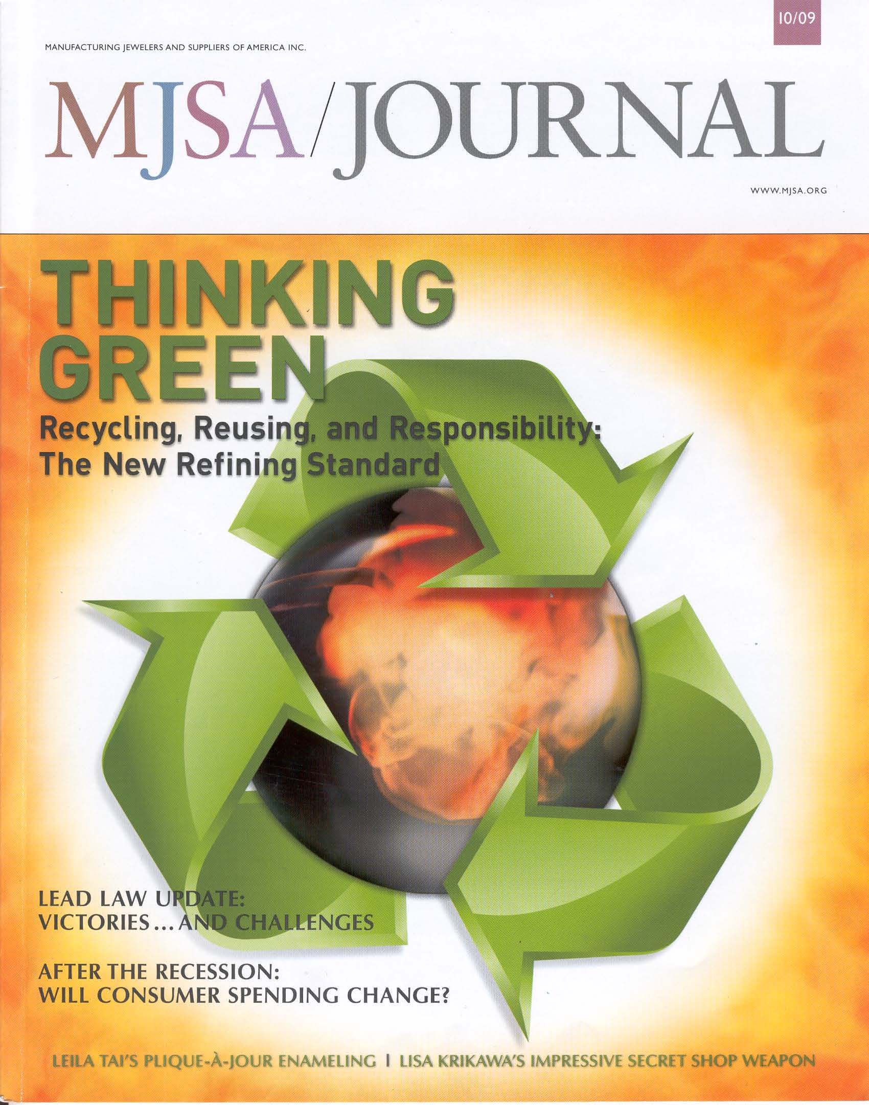 MJSA Journal Cover October 2009 Cover