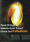 Solitaire April 2009 Palladium Article