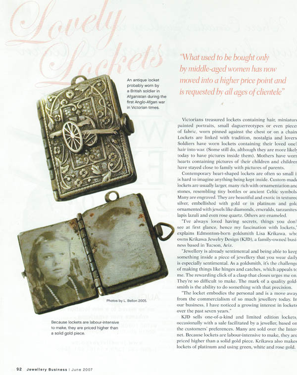 Jewellery Business Magazine June 2007 page 91