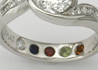 Personalize your ring with birthstones