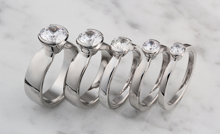 Solitaire ring width comparison