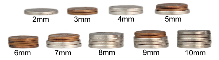ring width with coins