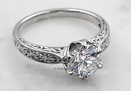 gorgeous white diamond engagement ring