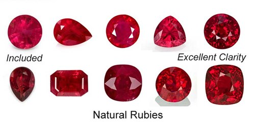 Ruby color and clarity chart
