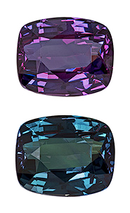 Finest Cushion Shaped Gem Quality Alexandrite