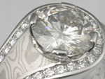 Channel Set Accent Diamonds