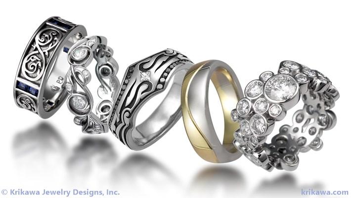 unique wedding rings unique wedding bands for men women custom sets. Black Bedroom Furniture Sets. Home Design Ideas